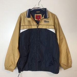 NFL Rams St. Louis Zip Up Jacket. Size medium